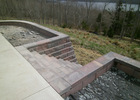 Allan block steps and retaining wall